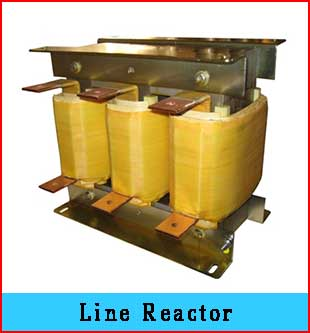 line reactors are an assembly of windings, chokes and inductors that are  arranged in series  it is specially designed to limit the electric output  current